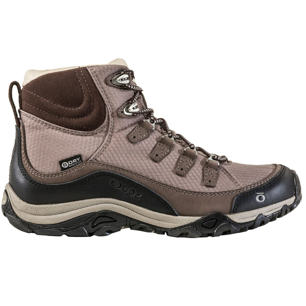 OBOZ Women's Juniper Mid Waterproof Hiking Boots - MOCHA