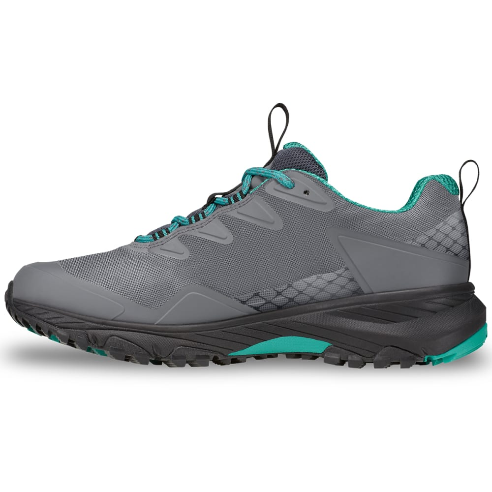 THE NORTH FACE Women's Ultra Fastpack III Low GTX Waterproof Hiking Shoes - GREY/GREEN