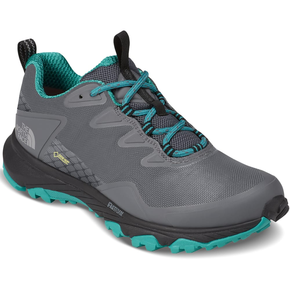 THE NORTH FACE Women's Ultra Fastpack III Low GTX® Waterproof Hiking Shoes - GREY/GREEN
