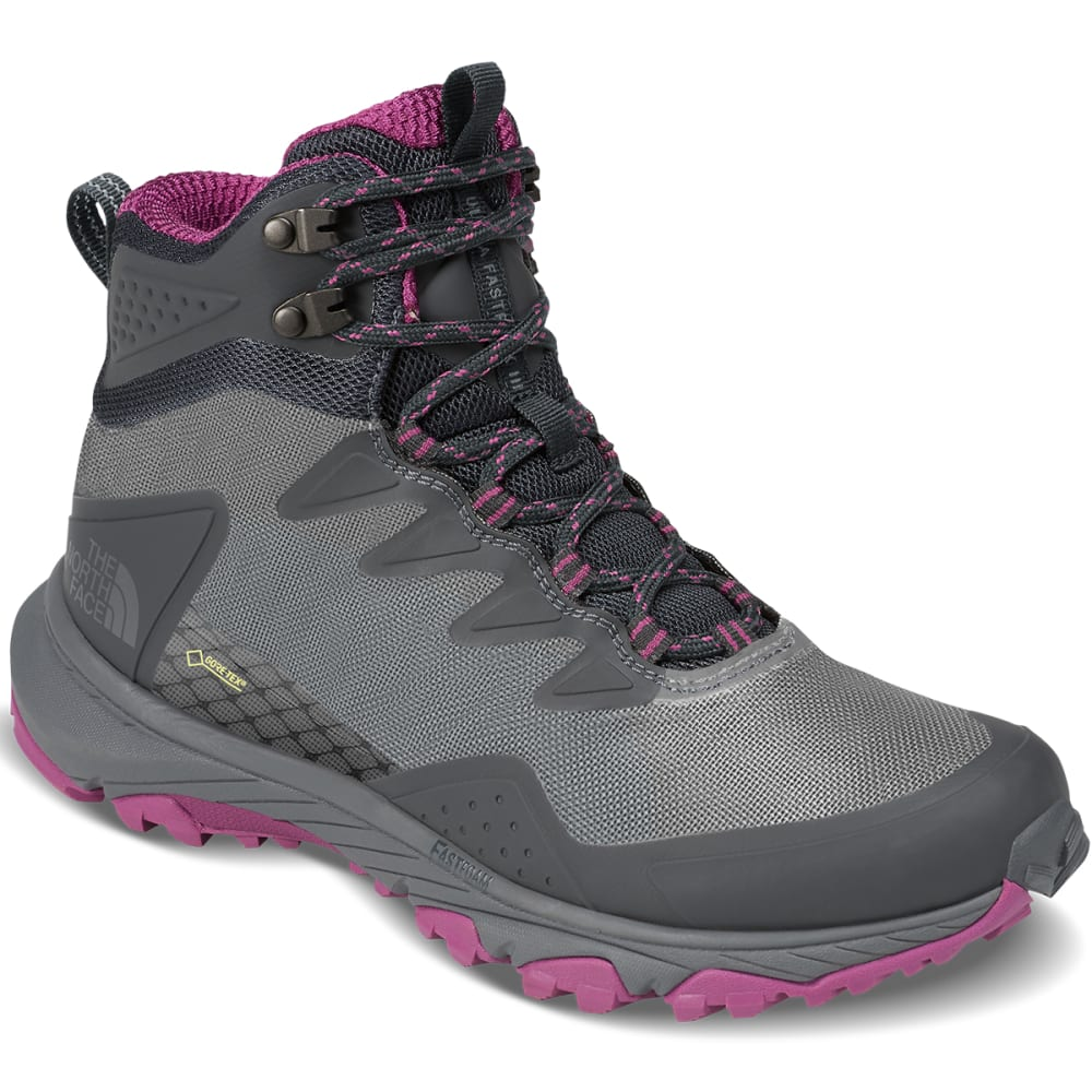 THE NORTH FACE Women's Ultra Fastpack III Mid GTX Waterproof Hiking Boots - DK SHADOW/ASTER PURP