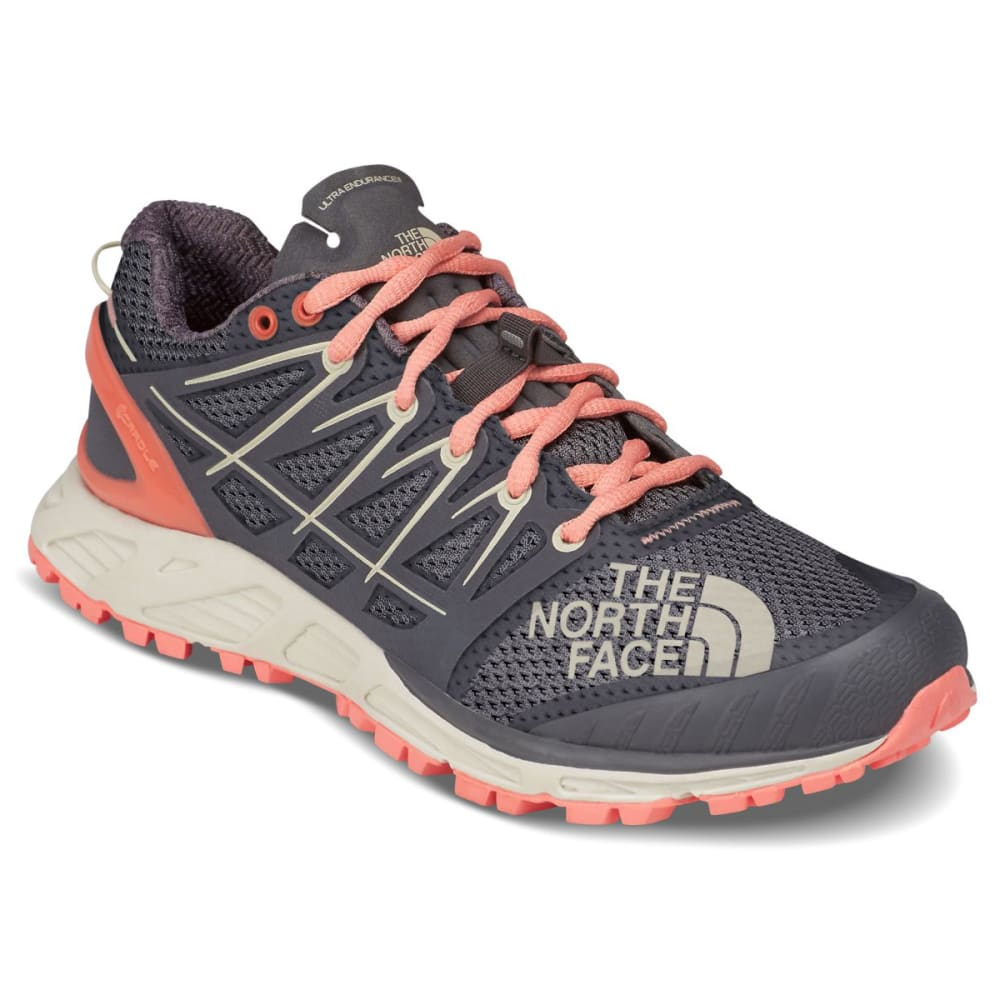 THE NORTH FACE Women's Ultra Endurance II Trail Running Shoes - BLACKENED PEARL/ORNG