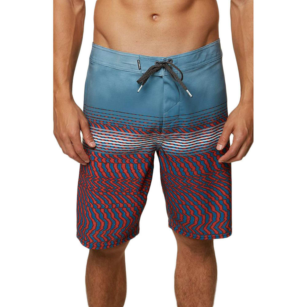 O'NEILL Guys' Hyperfreak Wavelength Boardshorts - FADED RED-FAD