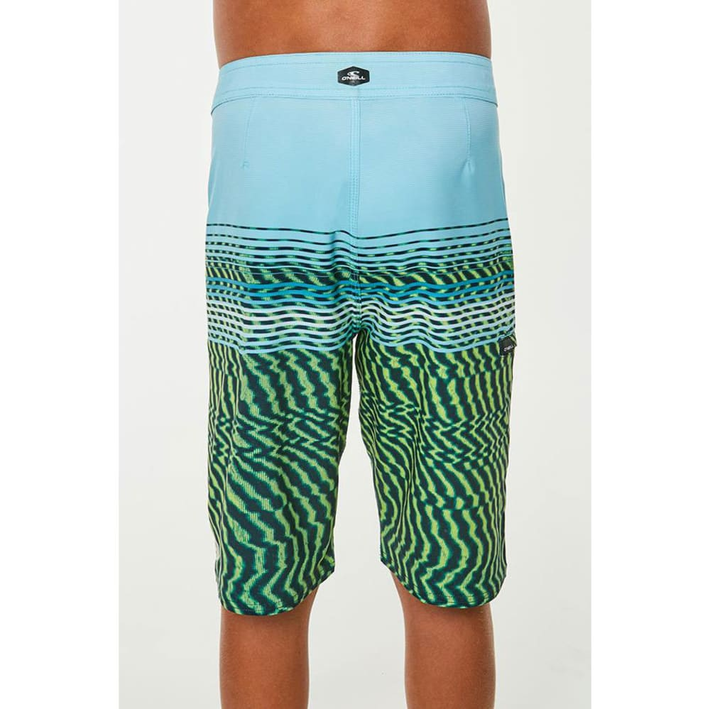 O'NEILL Big Boys' Hyperfreak Wavelength Boardshorts - LIME