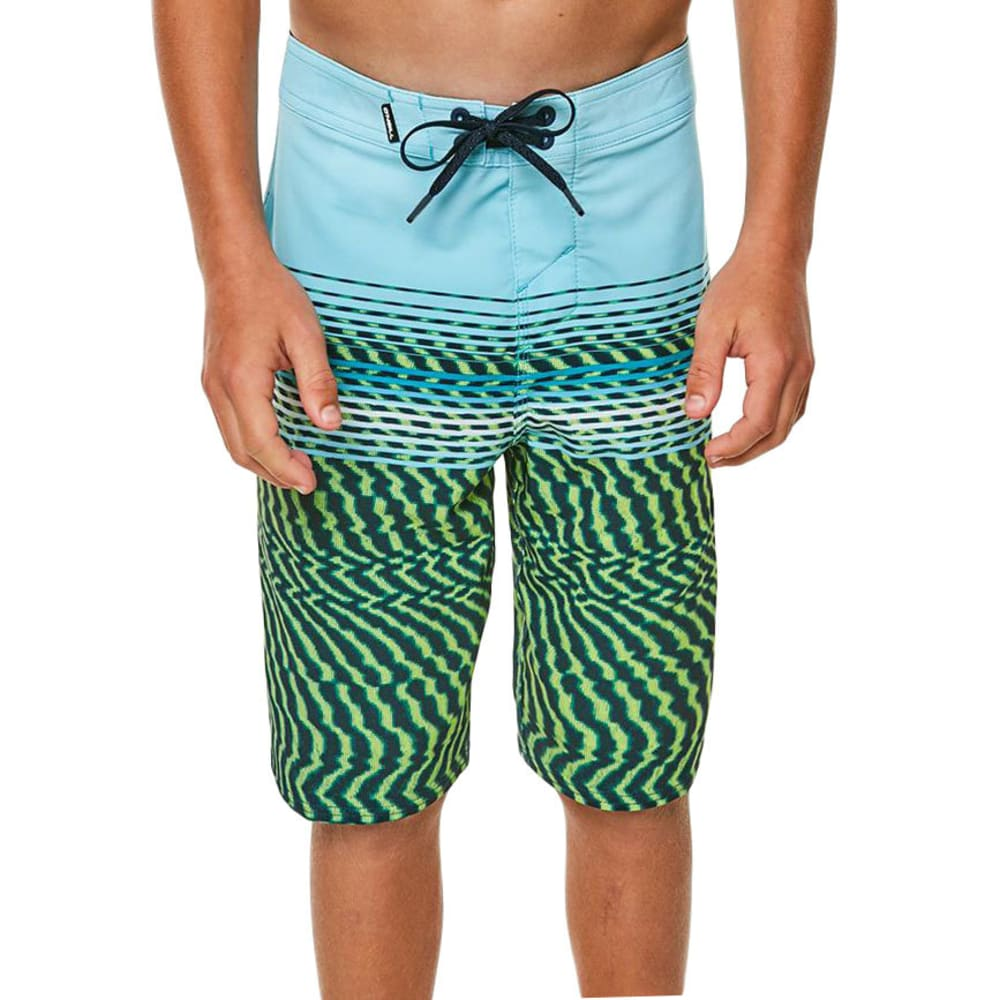 O'NEILL Big Boys' Hyperfreak Wavelength Boardshorts - LIME