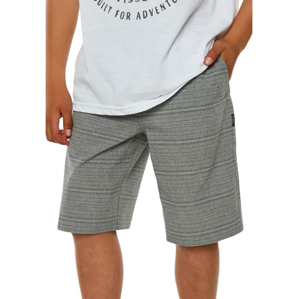 O'NEILL Big Boys' Locked Stripe Hybrid Shorts - GREY