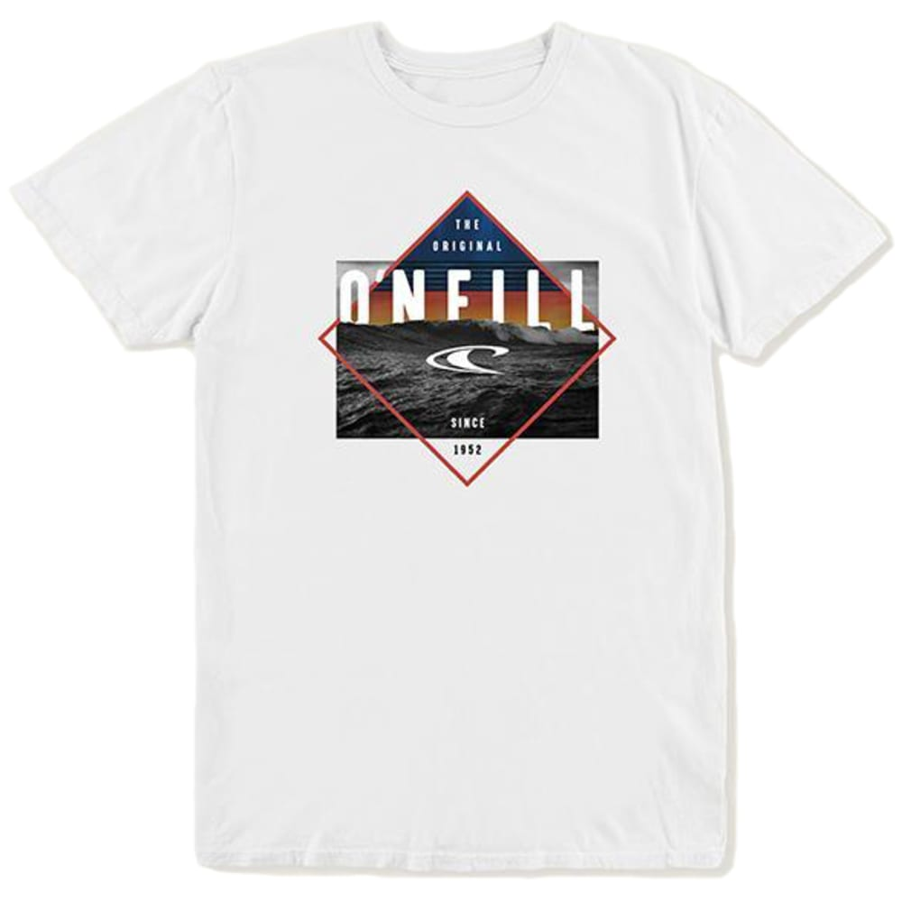O'NEILL Big Boys' Black Pool Short-Sleeve Tee Shirt - WHITE-WHT