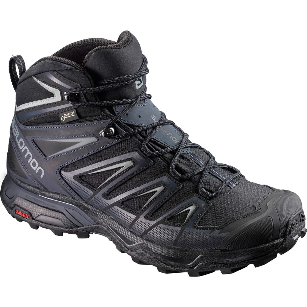 SALOMON Men's X Ultra 3 Mid GTX Waterproof Hiking Boots - BLACK