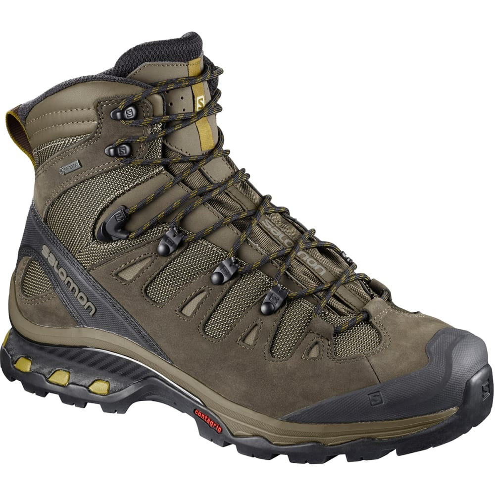 SALOMON Men's Quest 4D 3 GTX Waterproof Tall Hiking Boots - WREN/BUNGEE CORD/GRE