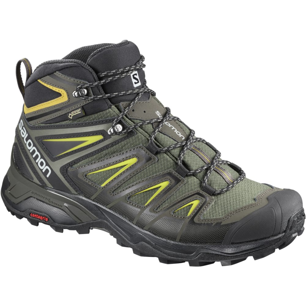 SALOMON Men's X Ultra 3 Mid GTX Waterproof Hiking Boots - GREY