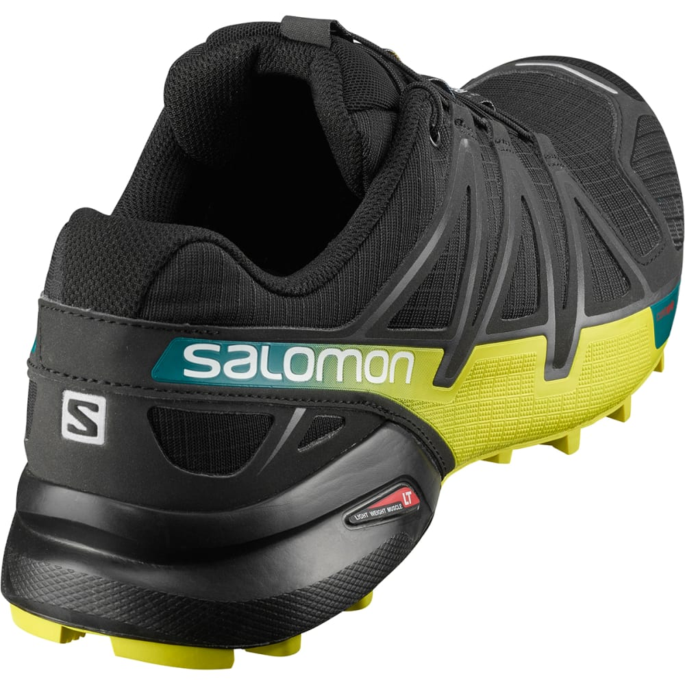 SALOMON Men's Speedcross 4 Trail Running Shoes - BLACK/EVERGLADE