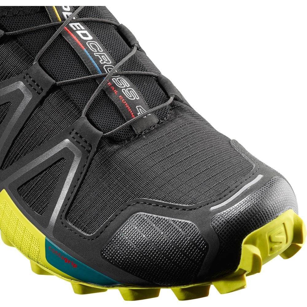 SALOMON Men's Speedcross 4 Trail Running Shoes - BLACK/EVERGLADE