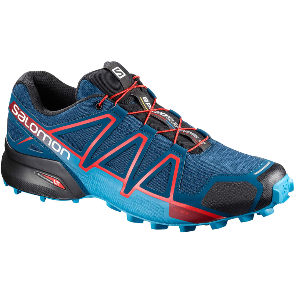 SALOMON Men's Speedcross 4 Trail Running Shoes - POSEIDON/HAWAIIAN SU