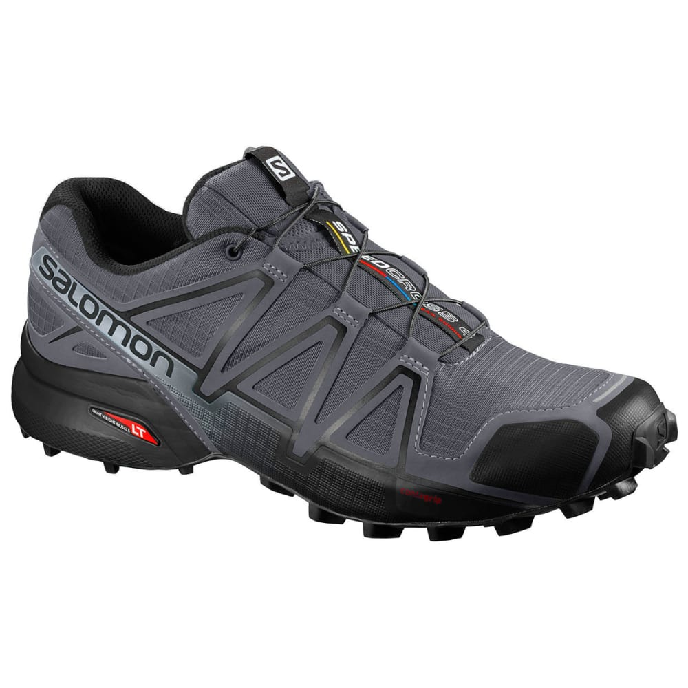 SALOMON Men's Speedcross 4 Trail Running Shoes, Wide - DK CLOUD BLK PEARLGR