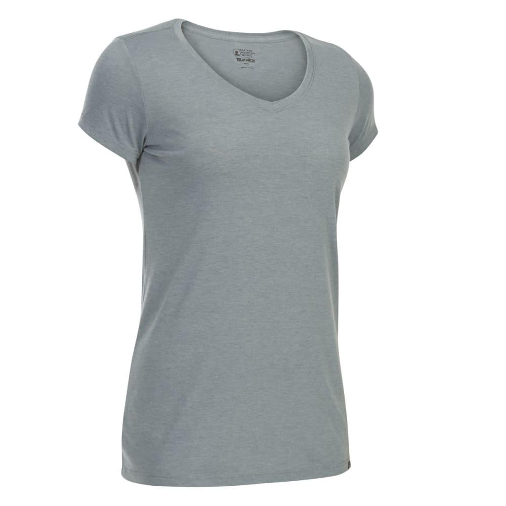 EMS Women's Techwick Vital V-Neck Short-Sleeve Tee - NEUTRAL GREY HTR