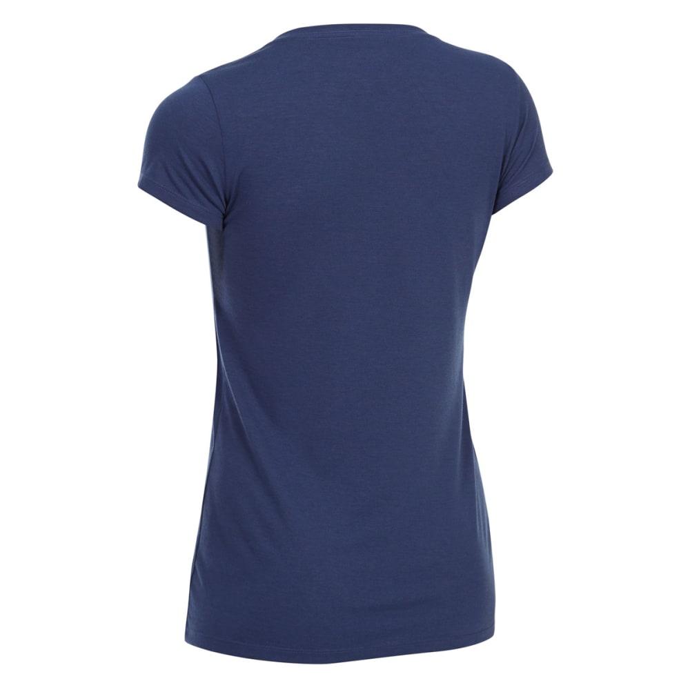 EMS Women's Techwick Vital V-Neck Short-Sleeve Tee - BLUE PRINT