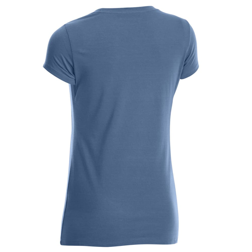 EMS Women's Techwick Vital Crew Short-Sleeve Tee - ENSIGN BLUE HEATHER