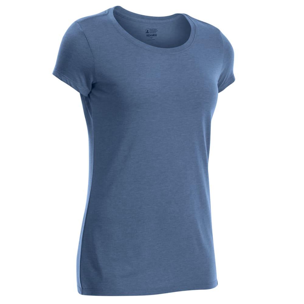 EMS Women's Techwick Vital Crew Short-Sleeve Tee - ENSIGN BLUE HEATHER
