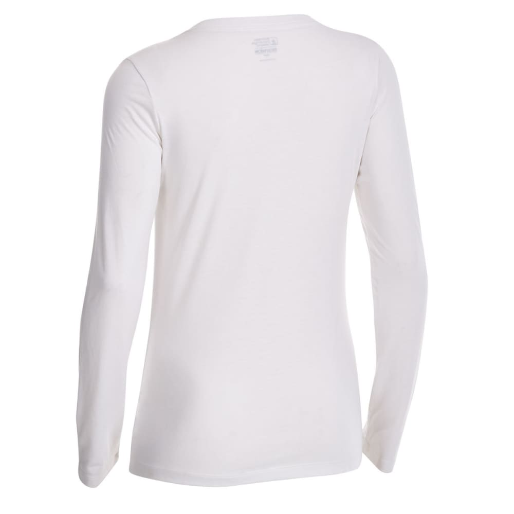 EMS Women's Techwick Vital V-Neck Long-Sleeve Tee - SNOW WHITE