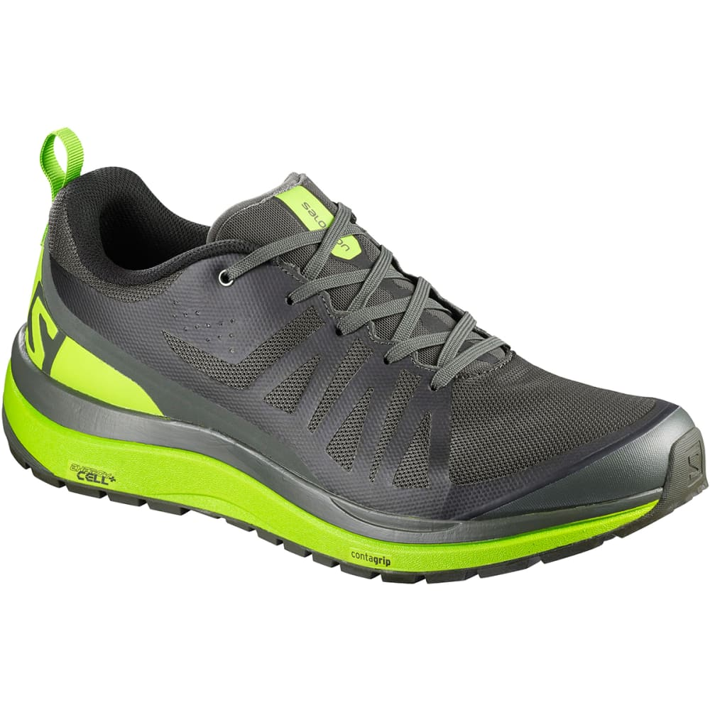 SALOMON Men's Odyssey Pro Low Hiking Shoes - BELUGA/LIME GREEN