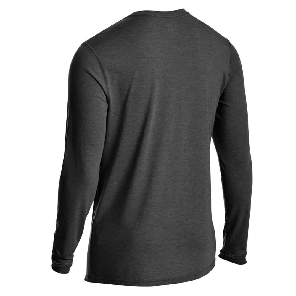 EMS Men's Techwick Vital Pocket Long-Sleeve Tee - JET BLACK HTR