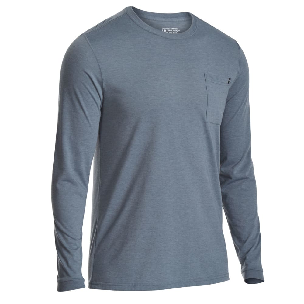 EMS Men's Techwick Vital Pocket Long-Sleeve Tee - NEUTRAL GREY HTR