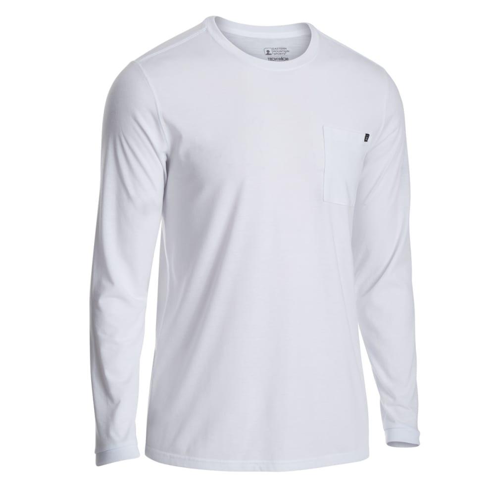 EMS Men's Techwick Vital Pocket Long-Sleeve Tee - WHITE