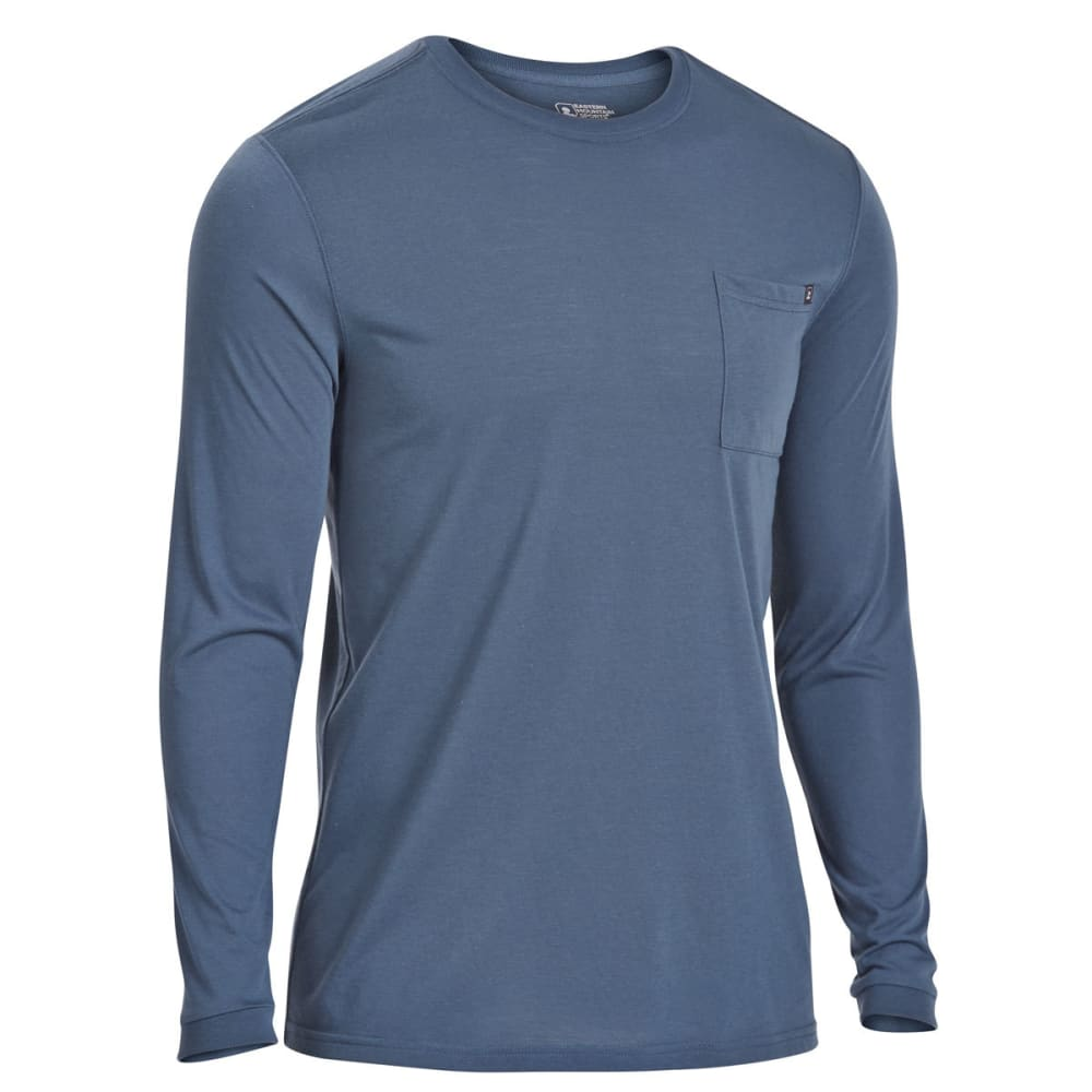EMS Men's Techwick Vital Pocket Long-Sleeve Tee - MIDNIGHT NAVY