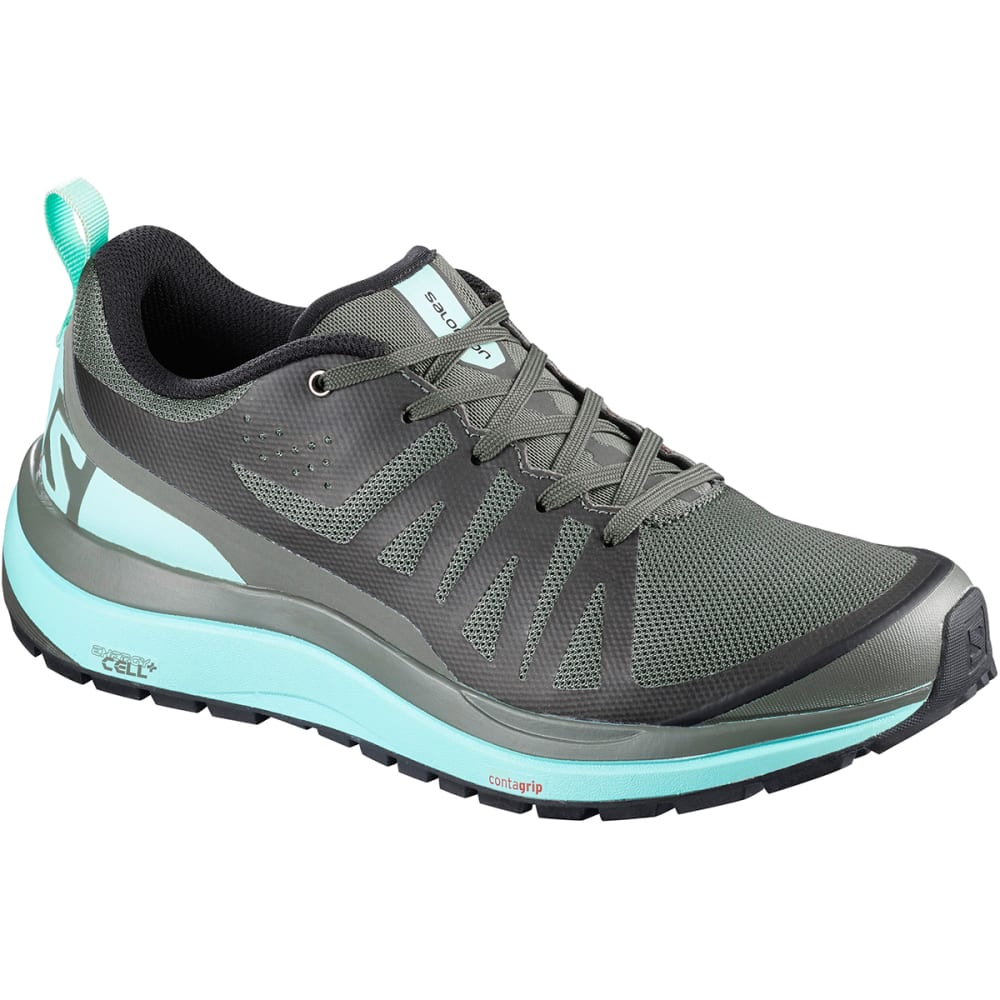 SALOMON Women's Odyssey Pro Low Hiking Shoes - CASTOR GRAY/EGGSHELL