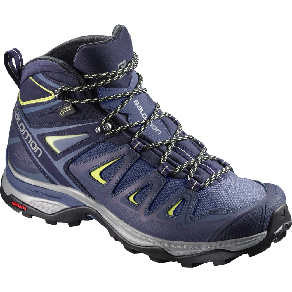SALOMON Women's X Ultra 3 Mid GTX Waterproof Hiking Boots - CROWN BLUE-L398691