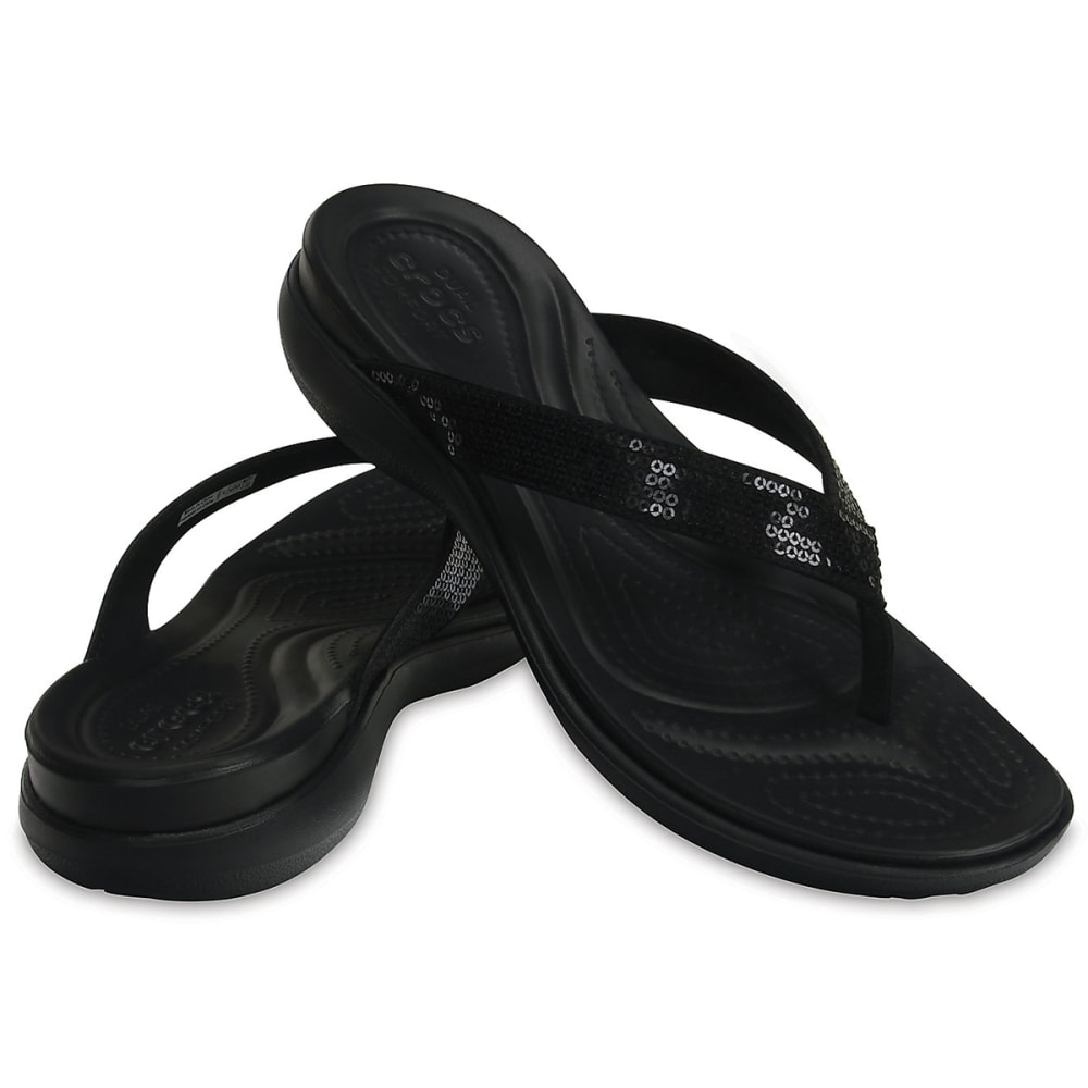 09490cbc5 CROCS Women s Capri V Sequin Flip Sandals - Eastern Mountain Sports