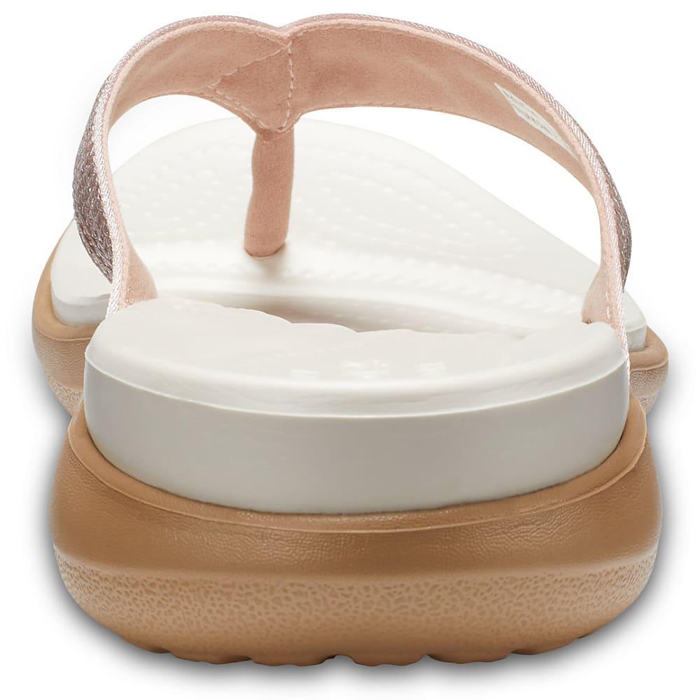 CROCS Women's Capri V Sequin Flip Sandals - ROSE GOLD-7D9
