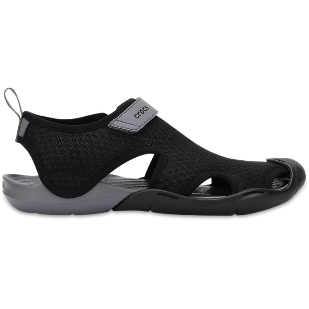 CROCS Women's Swiftwater Mesh Sandals - BLACK-001