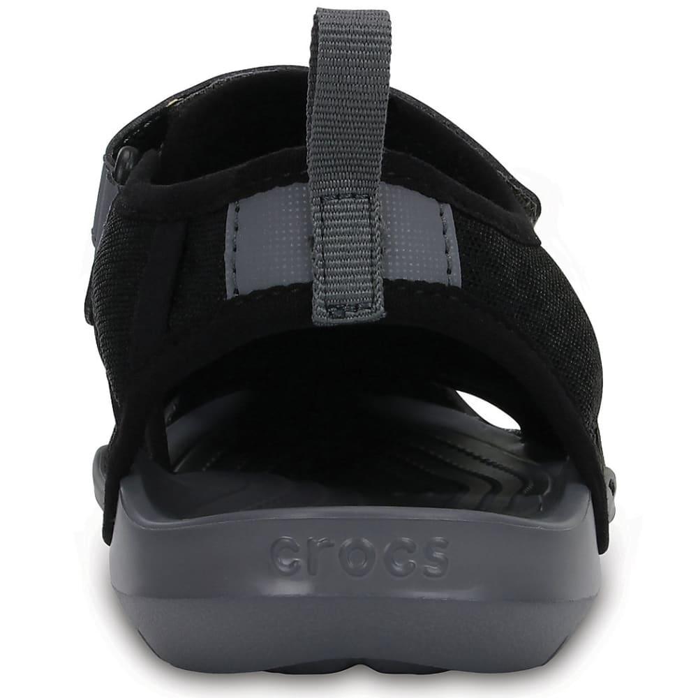 CROCS Women's Swiftwater Mesh Sandals - BLACK-001