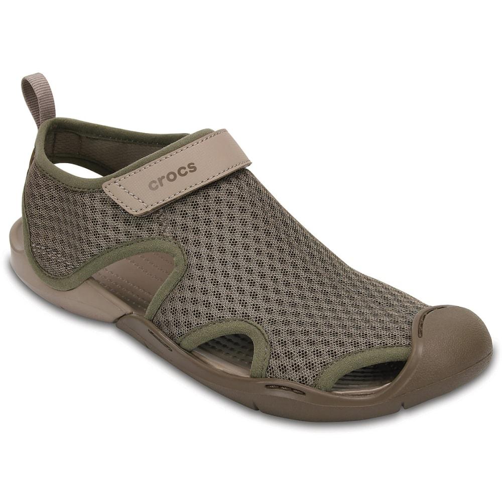 CROCS Women's Swiftwater Mesh Sandals - WALNUT-267