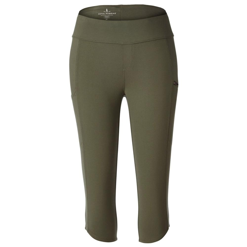 ROYAL ROBBINS Women's Jammer Knit Knicker Capri Pants - BAYLEAF
