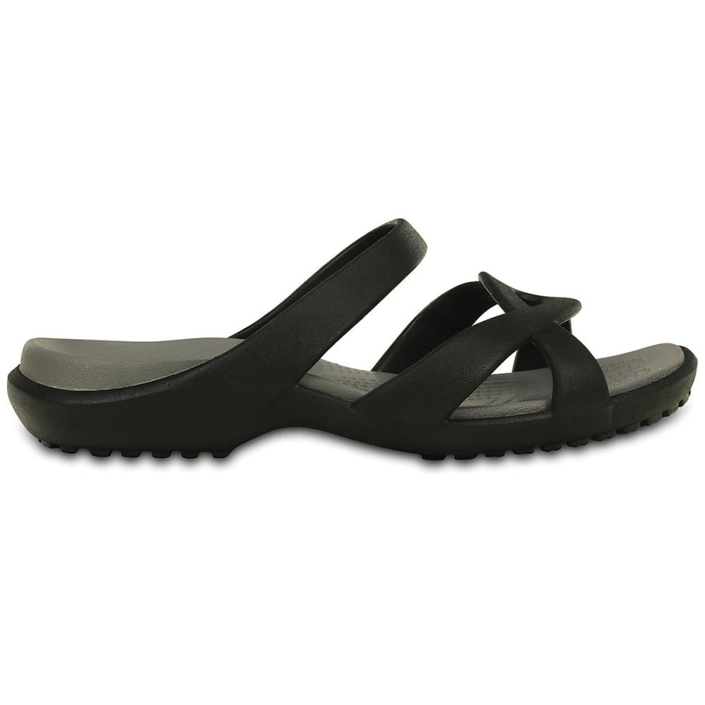 CROCS Women's Meleen Twist Sandals - BLACK/SMOKE -O5M
