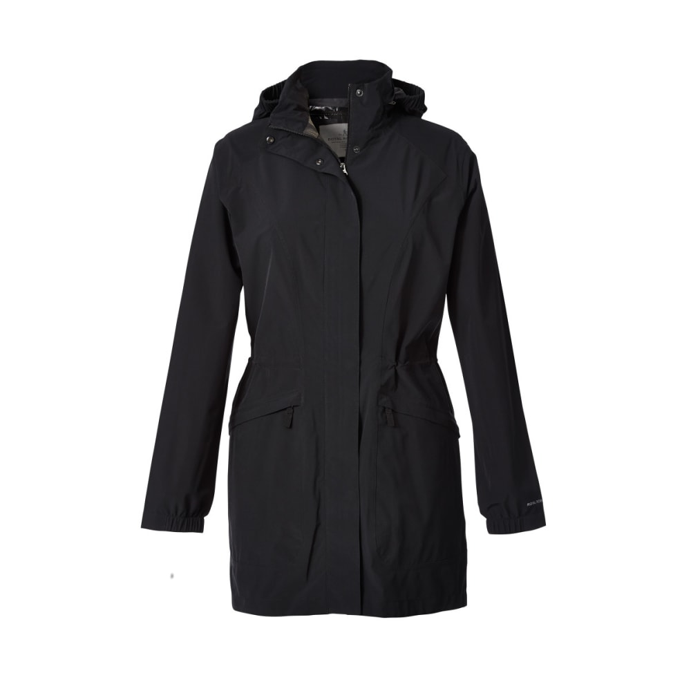 ROYAL ROBBINS Women's Oakham Waterproof Trench Coat - JET BLACK
