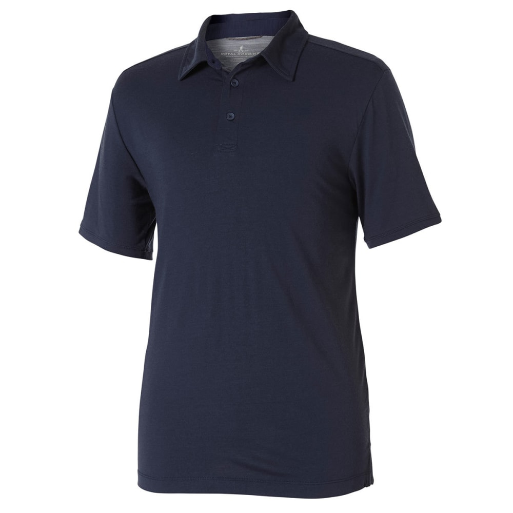 ROYAL ROBBINS Men's Merinolux Short-Sleeve Polo Shirt - NAVY