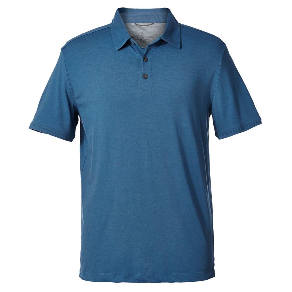 ROYAL ROBBINS Men's Merinolux Short-Sleeve Polo Shirt - BLUESTONE