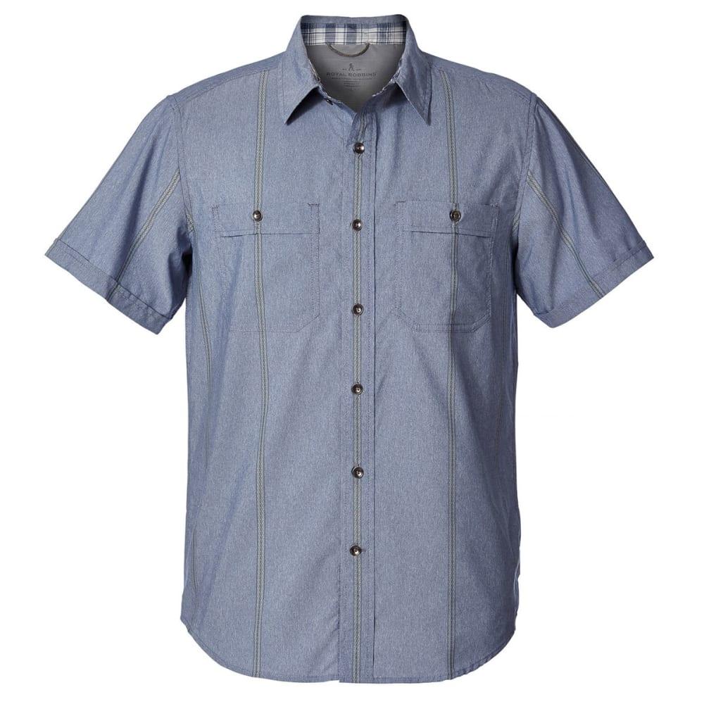 ROYAL ROBBINS Men's Vista Dry Short-Sleeve Shirt - DEEP BLUE