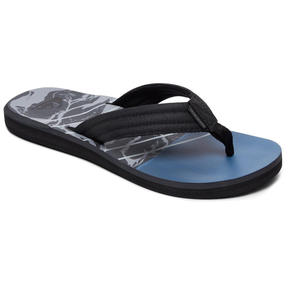 QUIKSILVER Big Boys' Carver Sandals - BLACK/GREY/BLUE