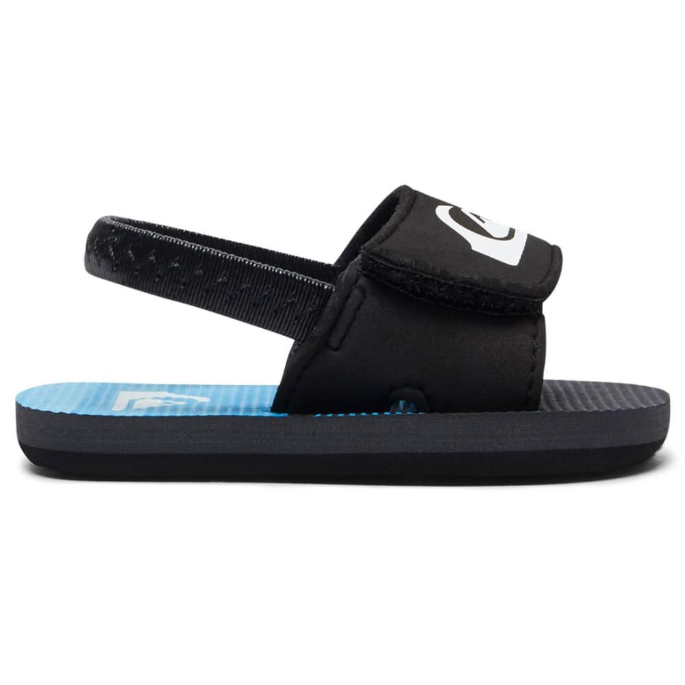 QUIKSILVER Infant Boys' Molokai Layback Slider Sandals - BLACK/GREY/BLUE