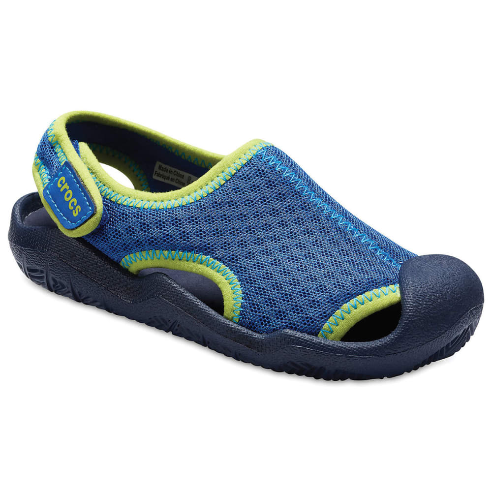 CROCS Boys' Swiftwater Sandals - BLUE JEAN -4HD