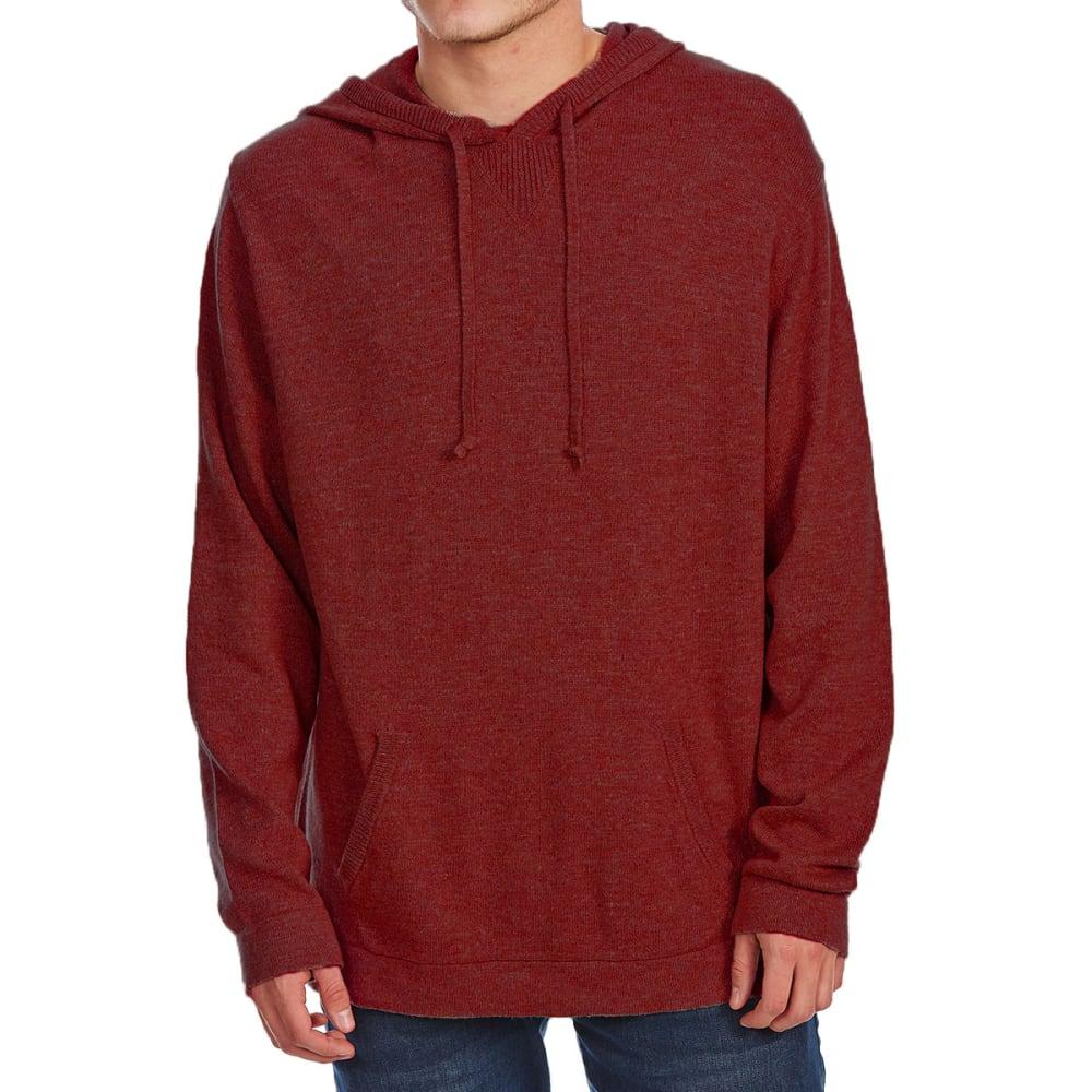 G.H. BASS & CO. Men's Hooded Long-Sleeve Sweater - MERLOT HTR-640