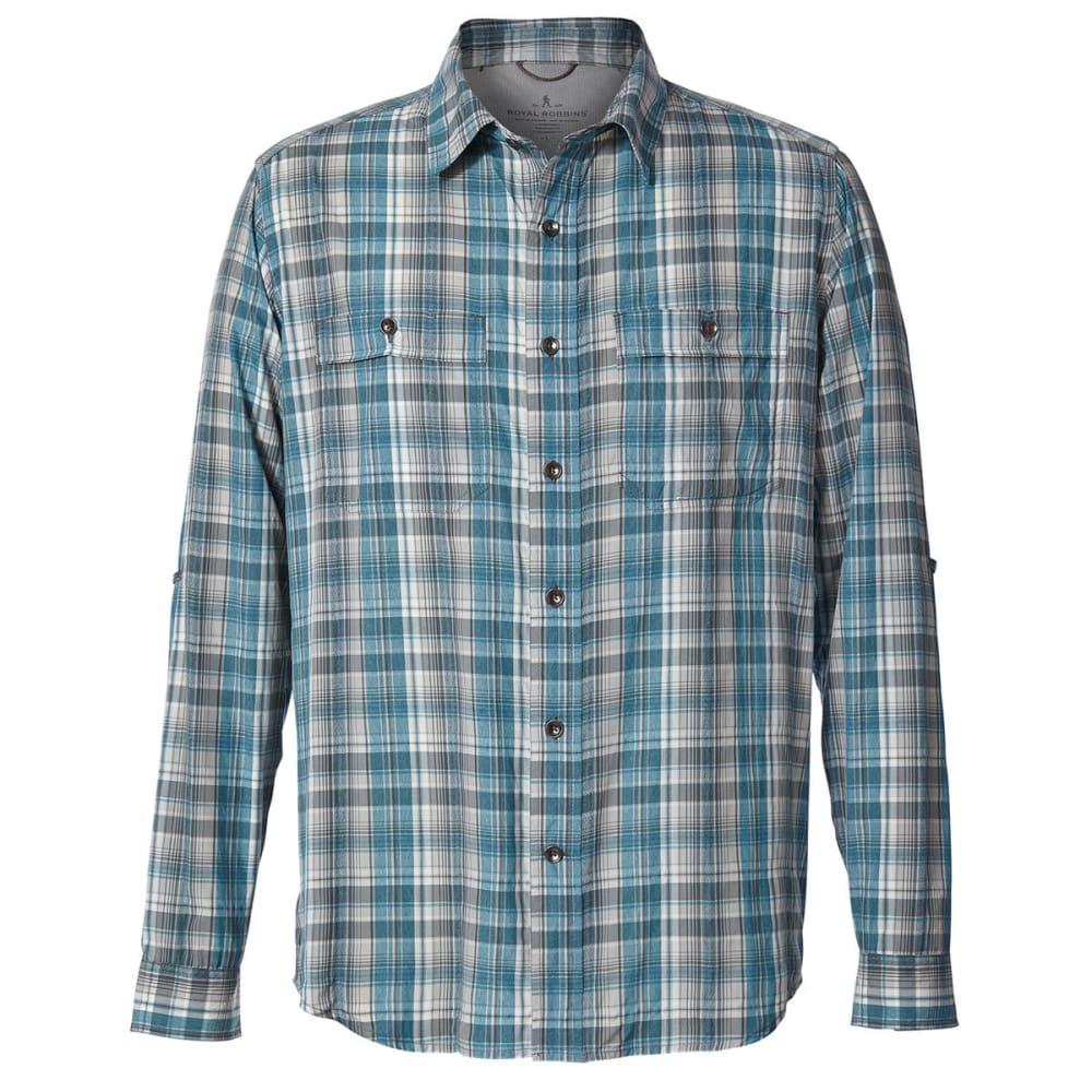 ROYAL ROBBINS Men's Vista Dry Plaid Long-Sleeve Shirt - VIRIDIAN GREEN