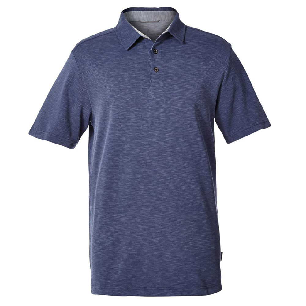 ROYAL ROBBINS Men's Great Basin Dry Short-Sleeve Polo Shirt - COLLINS BLUE