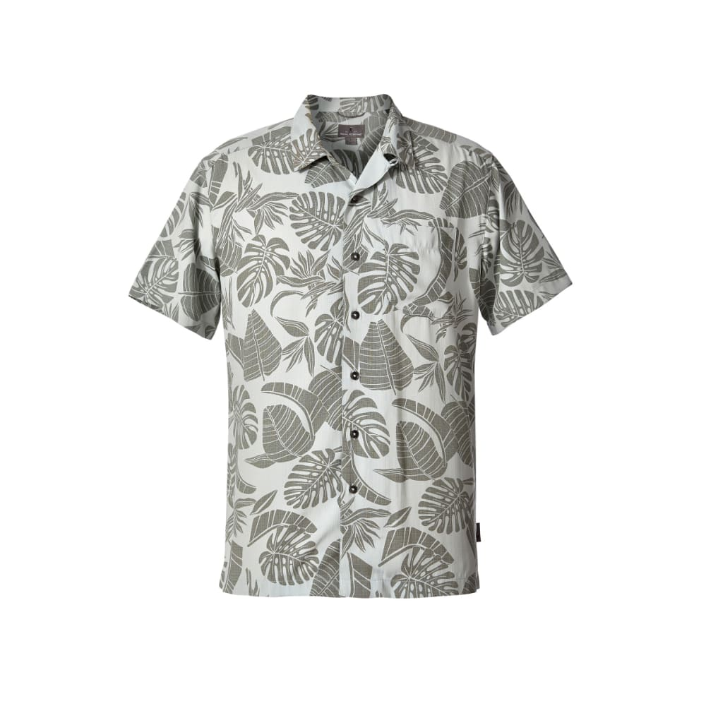 ROYAL ROBBINS Men's Throwback Palm Short-Sleeve Shirt - SKY GREY PRINT