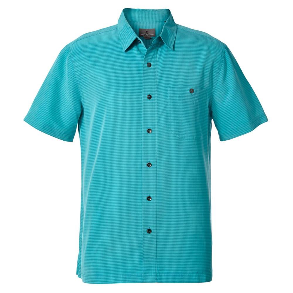 ROYAL ROBBINS Men's Mojave Pucker Dry Short-Sleeve Shirt - VIRIDIAN GREEN