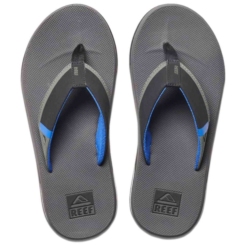 REEF Men's Fanning Low Flip Flops - GREY/BLUE