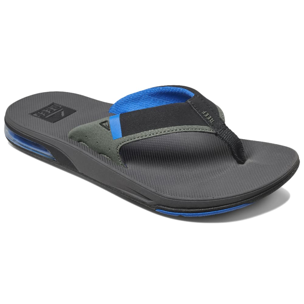 REEF Men's Fanning Low Flip Flops - GREY/BLUE